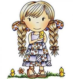 Paper Nest Dolls  Rubber Stamps - Little Chick Ellie PND2052