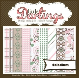 Little Darlings 24 single sided papers Caladium