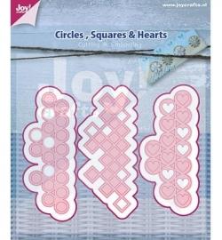 Joy! Cutting & Embossing - Cirkels.vierkanten en hartjes 6002/0447