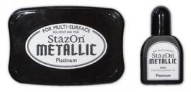 Stazon Stempelkussen metallic platinum SOLVENT