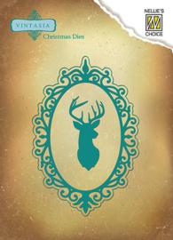 Vintasia Dies - Christmas Reindeer Frame VIND045