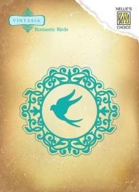 Vintasia Dies Romantic birds round VIND042