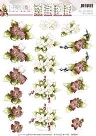 3D Knipvel  Precious Marieke  Charming Xmas  Flower CD10529