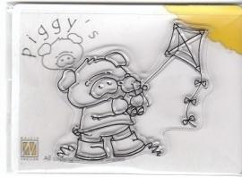 Piggy clearstamp PI009