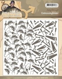 Embossing Folder - Amy Design - Its a Mans World 10002