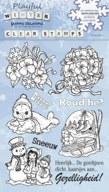 Clear Stamp - Yvonne Creations - Playfull Winter YCCS10001