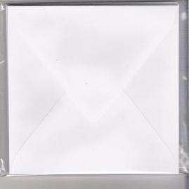 100 vierkante enveloppen 14x14 wit
