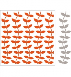 MD Design Folder + Die - Leaves(incl.Matching Die) DF3414