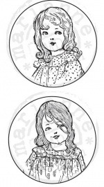 Cling stamps Girls 2st CS0850