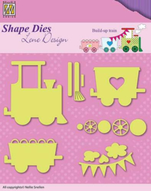 Shape Dies - Lene Design - Baby serie - Build-up train  SDL033