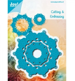 Joy!  Cutting & Embossing - Blauwe mal - rond 6002/0458