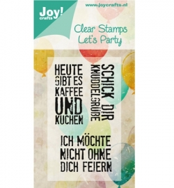 Clearstamp Let's Party 6410/0358 Duits