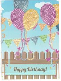 Happy Birthday balon 13 x 18 cm
