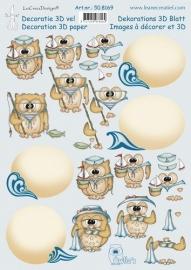 3D - Leane Creatief - Summer Owlie 50.8169