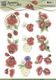 3D Knipvel - Jeanines Art - Voorjaarsbloemen CD10845