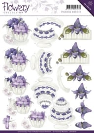 3D Knipvel - Precious Marieke - Flowery - Congratulations CD10670