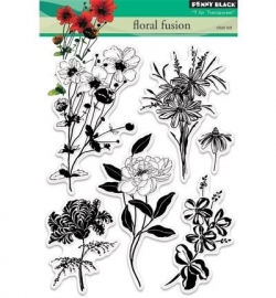 Penny Black Clearstamp Floral fusion 30343