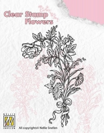 NS Clear Stamp Flowers - Bouquet of wild flowers 1 FLO006
