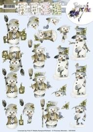 3D Knipvel - Precious Marieke - Happy Snowmen CD10543