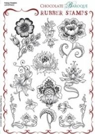 Fancy Flowers Rubber stamp sheet - A5 UA5SP0422