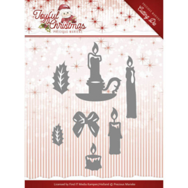 Die-Precious Marieke - Joyful Christmas - Christmas Candles PM10105