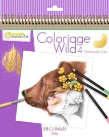 kleurboek Coloriage Wild 4 door Emmanuelle Colin