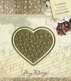 Amy Design Die Classic Christmas Star-filled heart ADD10018