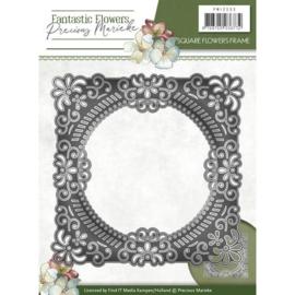 Die - Precious Marieke - Fantastic Flowers - Square Flowers frame PM10090