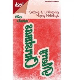 Joy! Noor Design 6002/2027 Happy Holidays