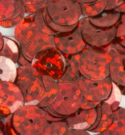 Pailletten facon 6mm Disco red