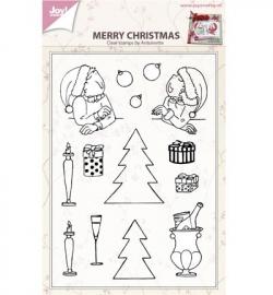Joy! Clearstamp Merry xmas by antoinette 6410/0433