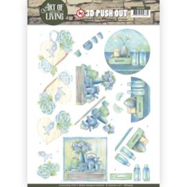 3D Pushout - Jeanine's Art - Art of Living - Blue Art SB10309