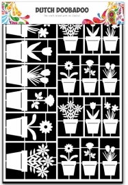 Dutch Doobadoo Paper Art bloempotten - A5 472.948.019