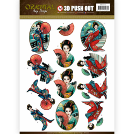 3D puch-out Oriental SB10252