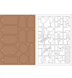 Kraft Liner - Paper Tags and Spring 479.001.200
