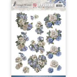 Pushout- Amy Design - Vintage Winter - Winter Flowers SB10216