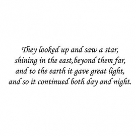 Lavinia They looked up and saw a star……