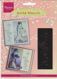 Geisha stencil MG0845