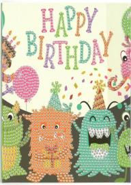 Happy Birthday Monstertjes 13 x 18 cm