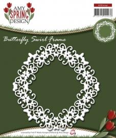 Die - Amy Design - Spring - Butterfly Swirl Frame ADD10041