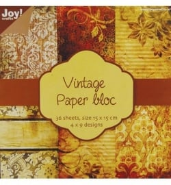 Joy Noor Design Vintage paper bloc 15x15