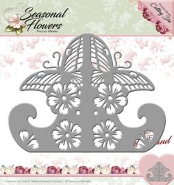 Die - Precious Marieke - Seasonal Flowers - Card Stand  PM10083