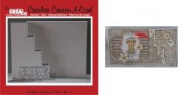 Crealies Create A Card no. 3 stans voor kaart CCAC03 / 13,5 cm x 27 cm
