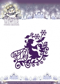 Die - Yvonne Creations - Magical winter - Fairy YCD10043