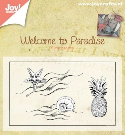 Joy! Clearstamp Welcome to Paradise klein 6410/0397