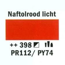 Amsterdam Acrylverf 120ml 398 Naftal rood licht