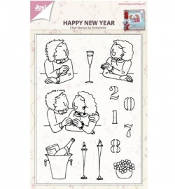 Joy! Clearstamp Happy new year by antoinette 6410/0432