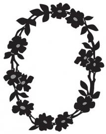 Craftables bloemenrand ovaal CR1215
