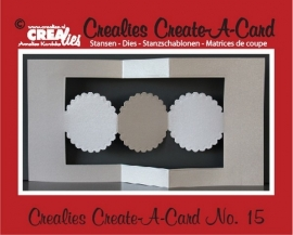 Crealies Create A Card no. 15 stans voor kaart CCAC15 / 13,5 cm x 26 cm