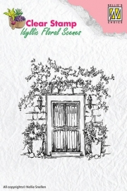 Nellie Snellen Clear Stamps - Door with flowerpots  IFS001